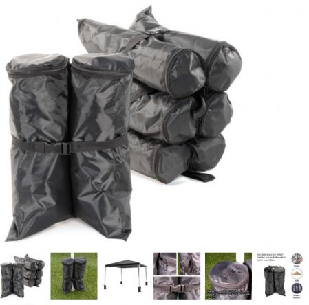 Greutate sustinere pavilion - tip geanta - umplere cu apa sau nisip - impermeabil, set 4 buc [1]