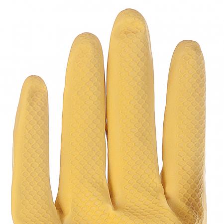 Manusi menaj BETTINA SOFT-din latex, interior cu fibre BBC 30 cm-diverse marimi-culoare galben-pereche [1]