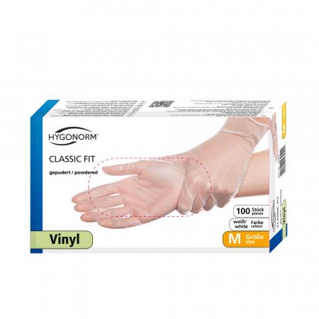 Manusi unica folosinta CLASSIC FIT-Vinyl clear-calitate extra light-diverse marimi-100 buc [0]