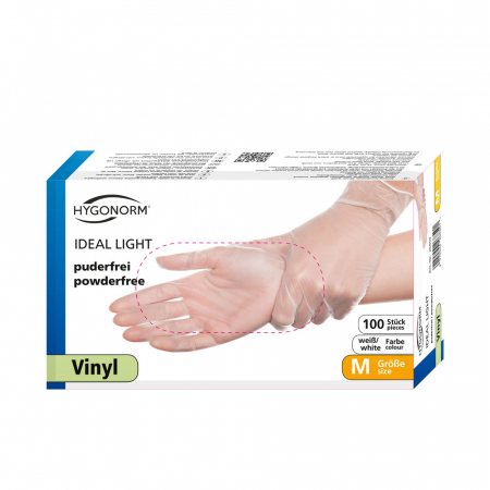 Manusi unica folosinta IDEAL LIGHT-Vinyl clear-calitate light fara pudra-diverse marimi-100 buc [1]