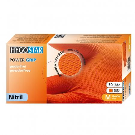 Manusi unica folosinta POWER GRIP - nitril, fara pudra, diverse culori si marimi- anti-alunecare, cu grip-50 buc [3]