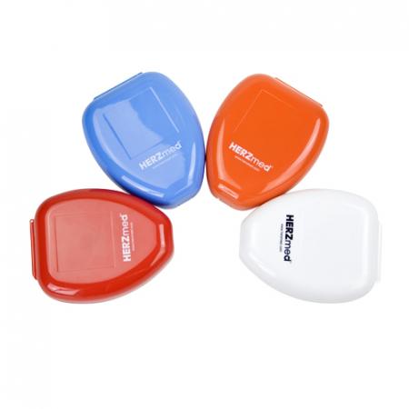 Masca respiratie gura la gura - 2 ventile - HERZ MED - cutie CPR mask rosu [2]