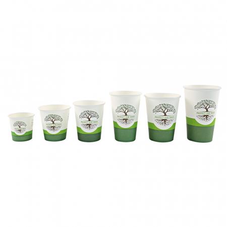 Pahar cafea Bio NATURAL Protect TREE certificat FSC - 1 perete - din carton PLA-stratificat - 8 oz, 200ml, 8cm - 50 buc [0]