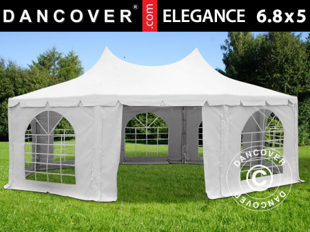 Pavilion - cort in 8 colturi MARQUEE Elegance PRO - 6.80 x 5 metri , culoare alb [0]