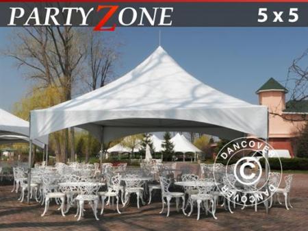 Pavilion PARTYZONE 6x6m tip pagoda - culoare alb- PVC [5]