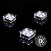 Paviment din sticla cu iluminare LED - 9.5x9.5x4.5 cm [0]