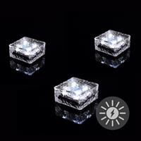 Paviment din sticla cu iluminare LED - 9.5x9.5x4.5 cm [1]