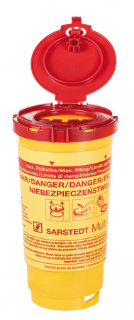 Recipient pentru ace si seringi folosite - 2 litri - cu capac [1]