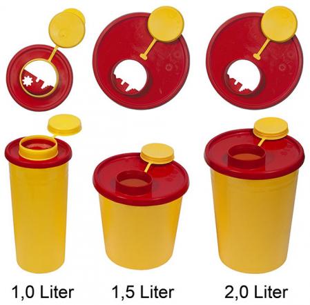 Recipient pentru ace si seringi folosite - 2 litri - cu capac [0]