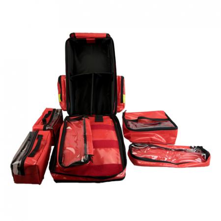 Rucsac medic pentru ambulanta YELLOW RED - 36x47x26 cm - cu 5 module si interior modular [4]