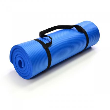Saltea pentru gimnastica si yoga - 190 x 60 x 1.5 cm - albastra [0]