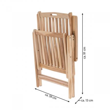 Scaun pentru terasa din lemn de salcam reglabil in 5 pozitii [1]