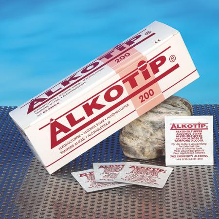 Servetele alcool ALKOTIP 6.5 x 3 cm - plic igienic - box 200 buc [1]
