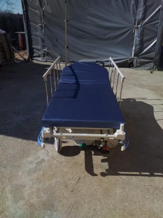 Targa ambulatoriu transport pacient HILL ROM TRANSTAR - reglare inaltime, saltea translucent radiografie - 318 Kg pacient [0]