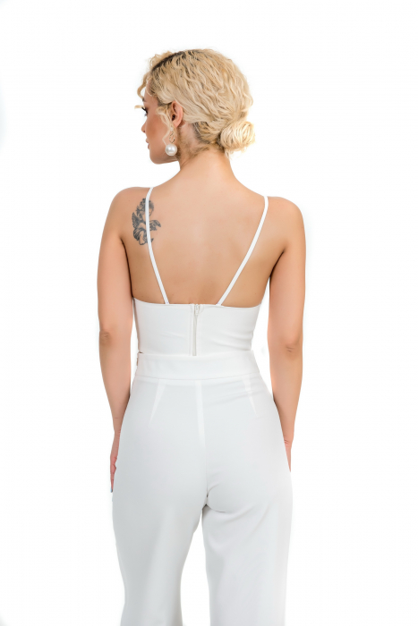 Pantalon alb evazat [5]