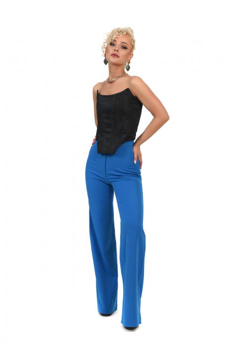 Pantalon albastru evazat [0]