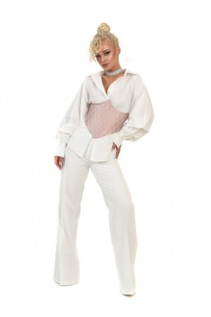 Pantalon alb evazat [1]