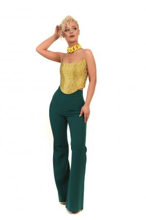 Pantalon verde trapez [0]