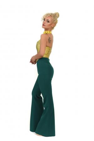 Pantalon verde trapez [1]