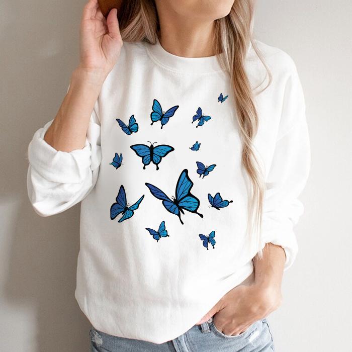 Bluza Dama Alba Blue Butterflies [0]