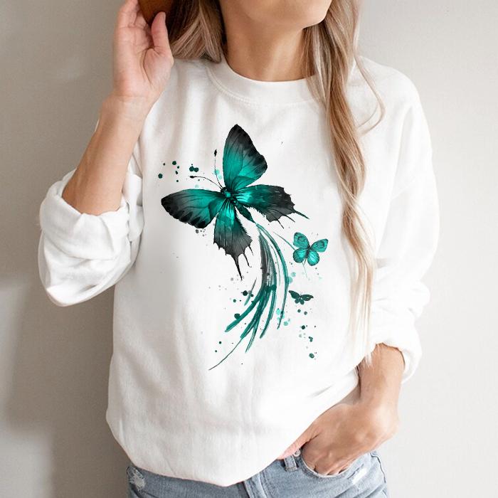 Bluza Dama Alba Emerald Butterflies [0]