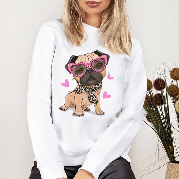 Bluza Dama Alba Fancy Pug [0]
