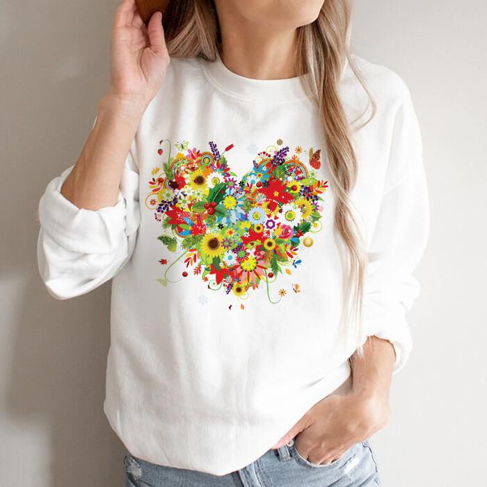 Bluza Dama Alba Flower Heart [0]
