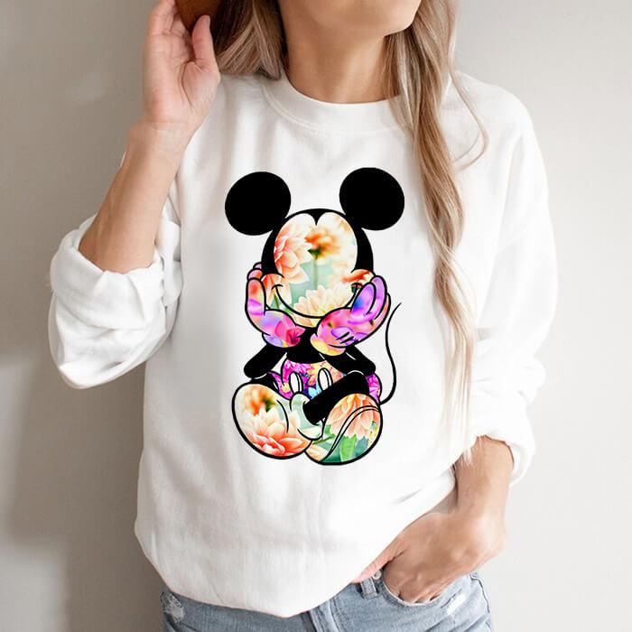 Bluza Dama Alba Floral Mickey [0]
