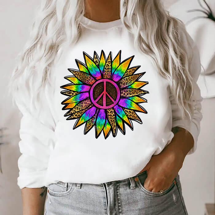 Bluza Dama Alba Rainbow Flower [0]