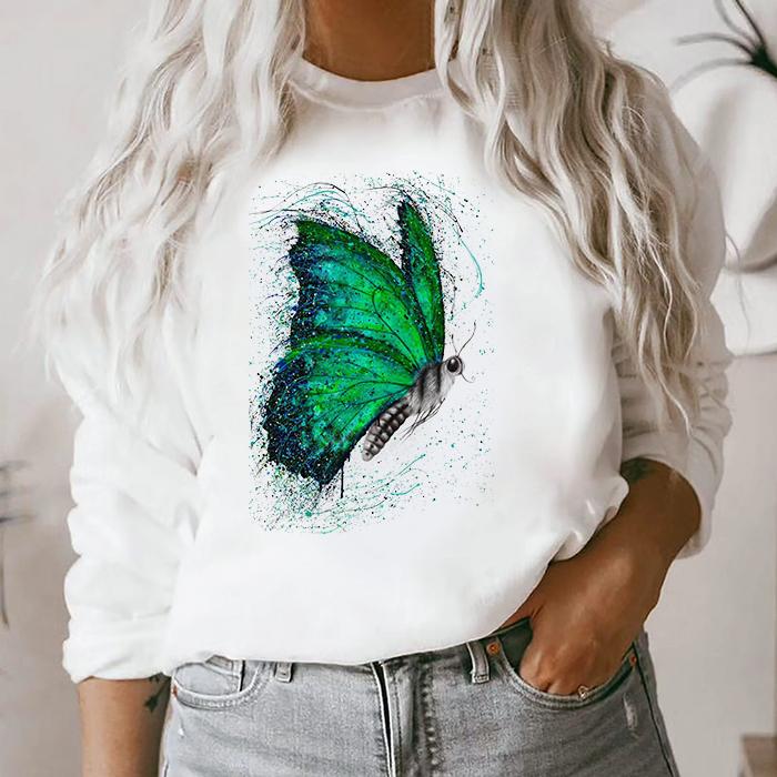 Bluza Dama Alba Green Butterfly [0]