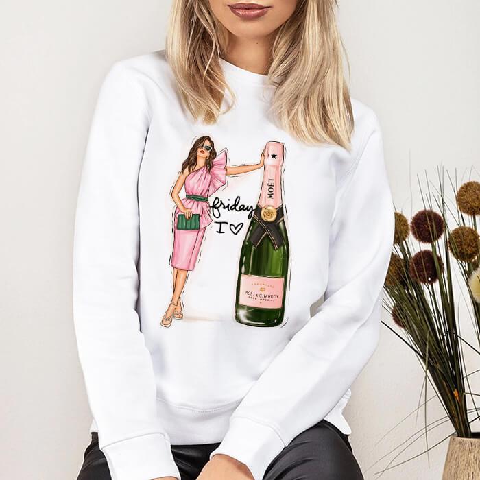 Bluza Dama Alba Friday I Love Champagne [0]