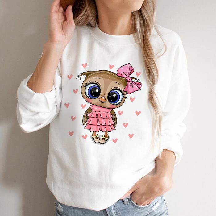 Bluza Dama Alba Cute Owl [0]