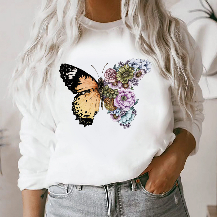 Bluza Dama Alba Butterfly In Bloom [0]