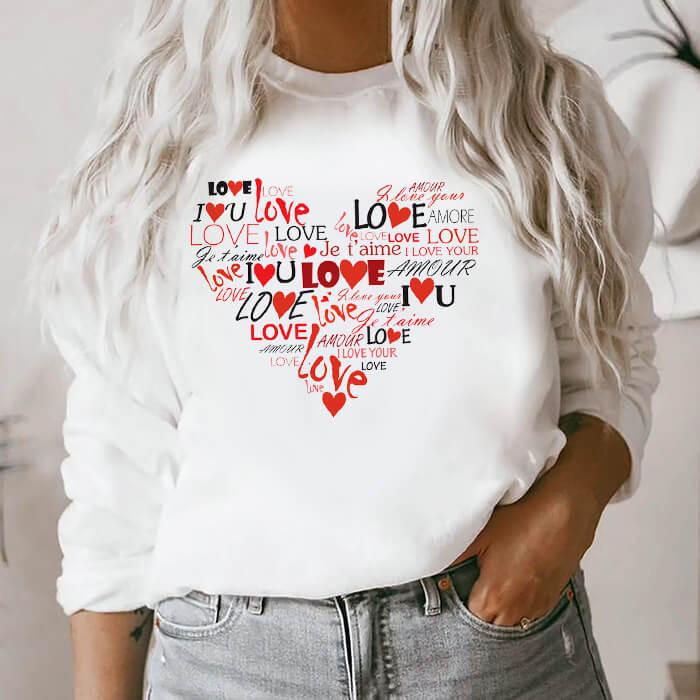 Bluza Dama Alba Love Heart [0]