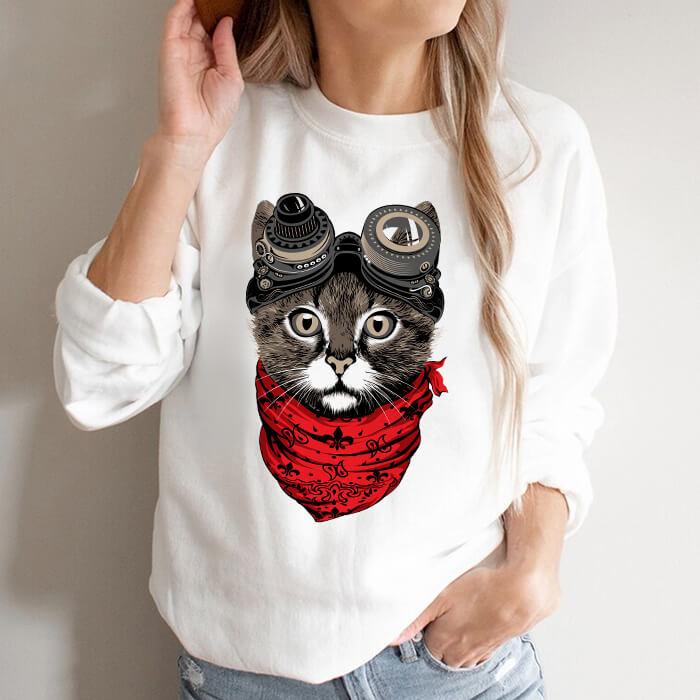 Bluza Dama Alba Steampunk Cat [0]