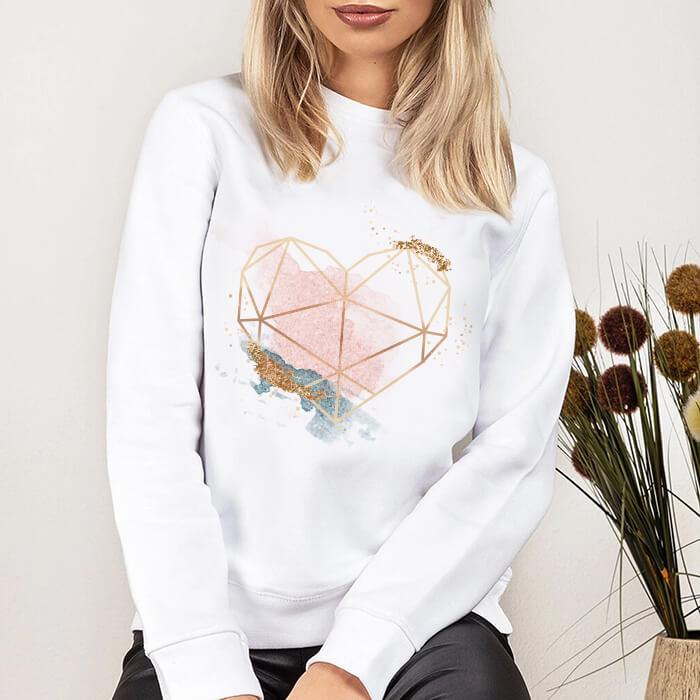 Bluza Dama Alba Glitter Heart [0]
