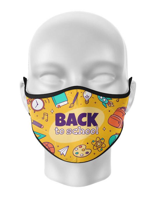 Masca de gura personalizata Back to school [0]