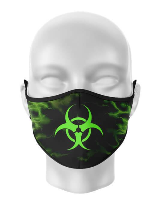 Masca de gura personalizata Biohazard lightning [0]