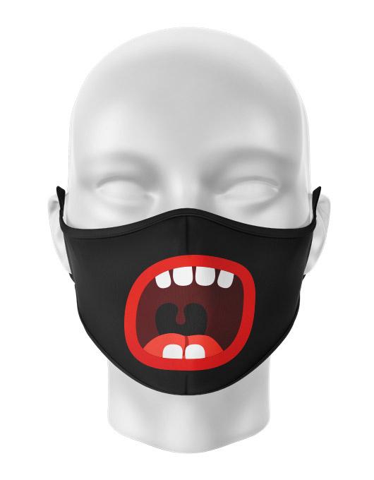 Masca de gura personalizata Cartoon scream [0]