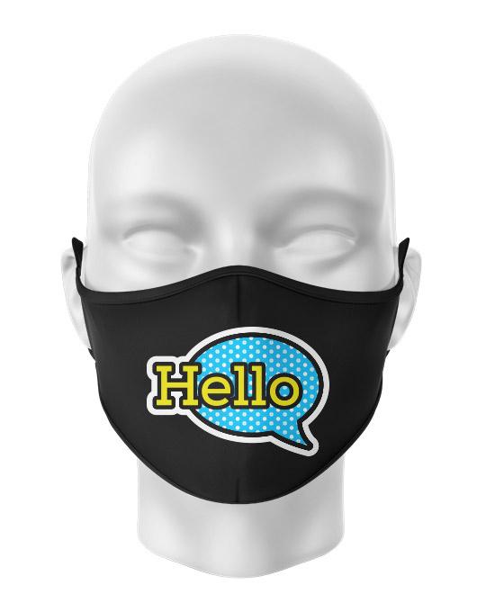 Masca de gura personalizata Hello [0]