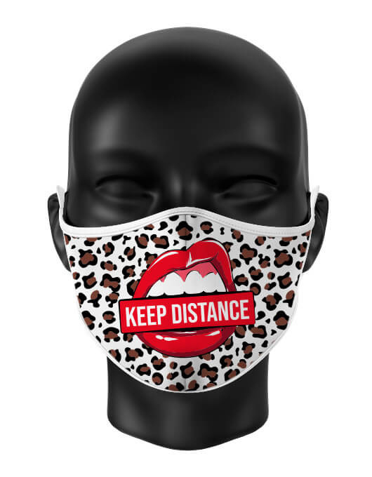 Masca de gura personalizata Keep distance [0]