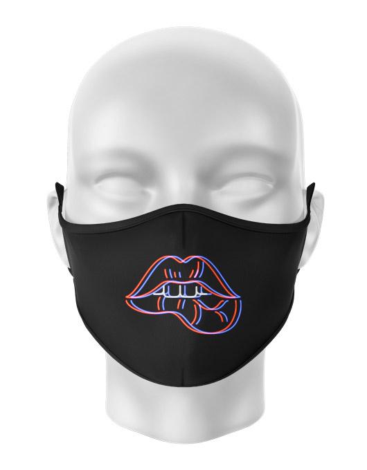 Masca de gura personalizata Neon lips [0]
