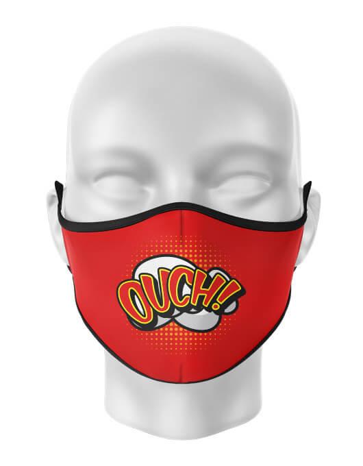 Masca de gura personalizata Ouch [0]
