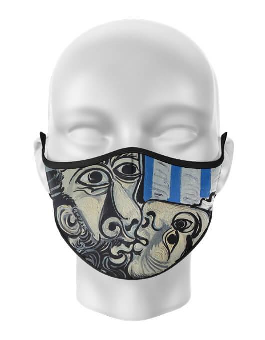 Masca de gura personalizata Picasso kiss [0]