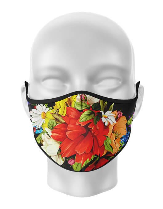 Masca de gura personalizata Red Flower [0]
