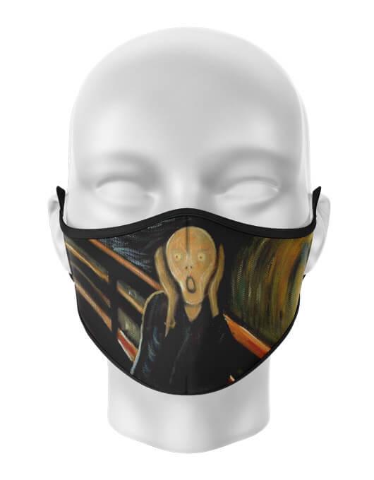 Masca de gura personalizata Scream painting [0]