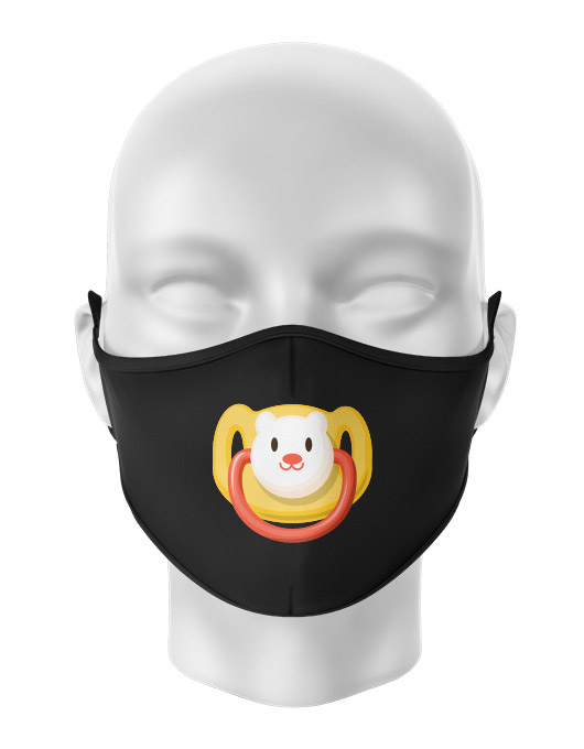 Masca de gura personalizata Teddy bear pacifier [0]