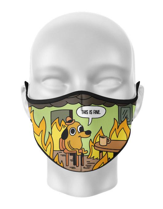 Masca de gura personalizata This is fine [0]