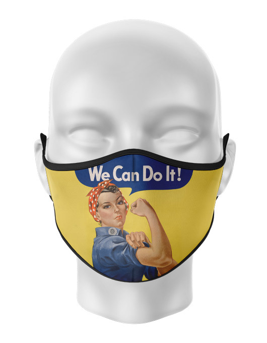 Masca de gura personalizata We can do it [0]