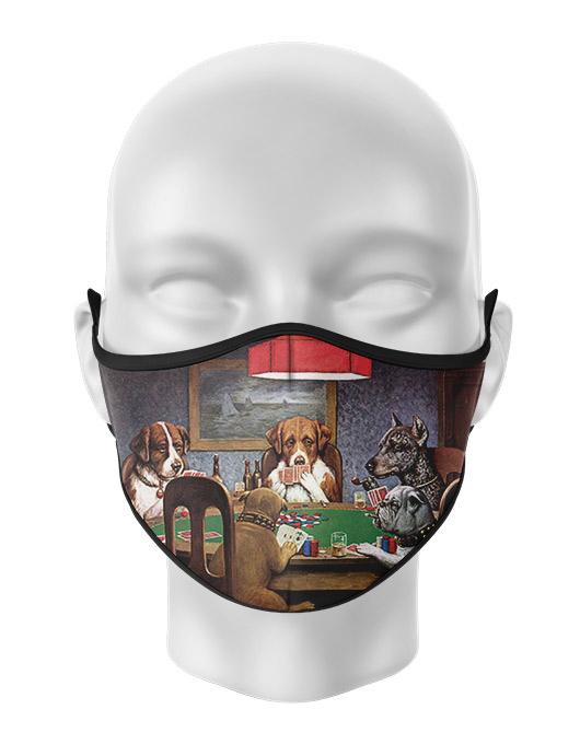 Masca reutilizabila personalizata Dogs playing poker [0]